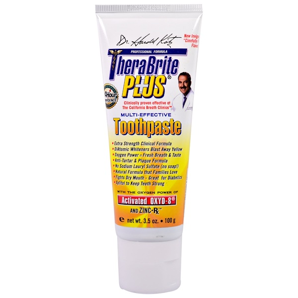 TheraBreath, TheraBrite Plus, Multi-Effective Toothpaste, 3.5 oz (100 g)