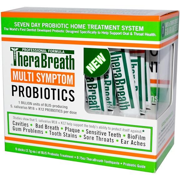 TheraBreath, マルチ徴候プロバイオティクス, 9スティック, 各(2.7 g) (Discontinued Item)