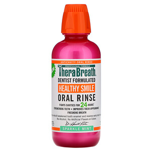 TheraBreath, Healthy Smile, Oral Rinse, Sparkle Mint, 16 fl oz (473 ml)