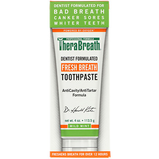 TheraBreath, Fresh Breath Toothpaste, Mild Mint Flavor, 4 oz (113.5 g)
