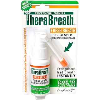 TheraBreath, Fresh Breath, Throat Spray, 1 fl oz (30 ml)