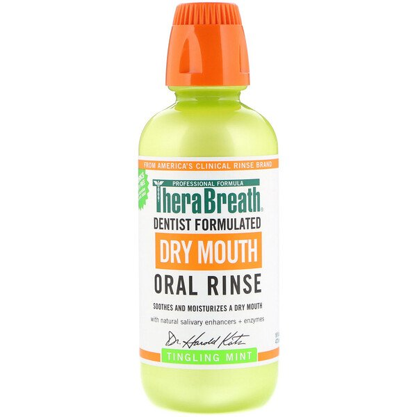 Dry Mouth Oral Rinse, Tingling Mint, 16 fl oz (473 ml)