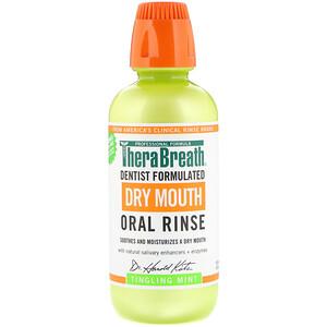 ТераБрет, Dry Mouth Oral Rinse, Tingling Mint, 16 fl oz (473 ml) отзывы покупателей