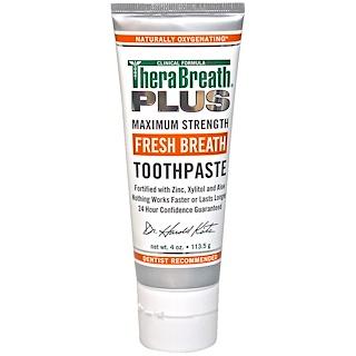 TheraBreath, Fresh Breath Toothpaste, 4 oz (113.5 g)