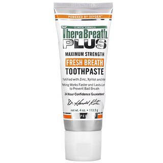 TheraBreath, Fresh Breath Toothpaste, Peppermint, 4 oz (113.5 g)