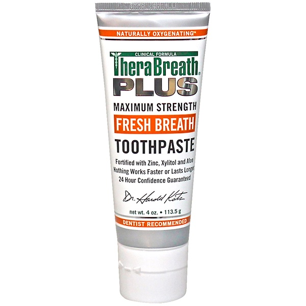 TheraBreath, Pastade dientes aliento fresco, 4 oz (113,5 g)
