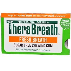ТераБрет, Fresh Breath, Sugar Free Chewing Gum, Mild Vanilla Mint Flavor, 12 Pieces отзывы покупателей