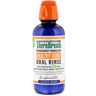 TheraBreath, Healthy Gums Oral Rinse, Clean Mint Flavor, 16 fl oz (473 ml)