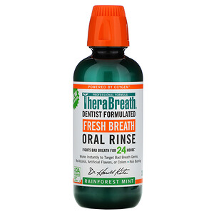 TheraBreath, Fresh Breath, Oral Rinse, Rainforest Mint, 16 fl oz (473 ml)