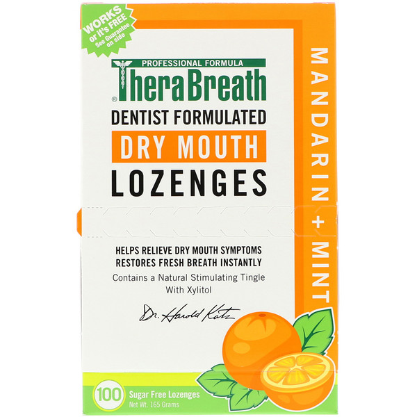 Dry Mouth Lozenges, Mandarin Mint, 100 Wrapped Lozenges, 165 g