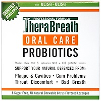 Уход за полостью рта, Oral Care Probiotics, цитрусовый аромат, 8 пастилок без сахара - фото