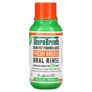 TheraBreath, Fresh Breath Oral Rinse, Mild Mint, 3 fl oz (88.7 ml)