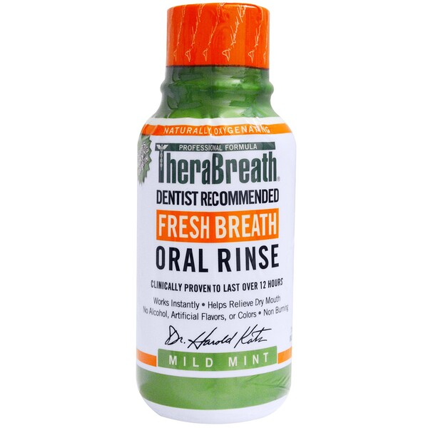 "TheraBreath, מי פה Fresh Breath, בטעם מנטה עדין, 88.7 מ""ל (3 fl oz)"