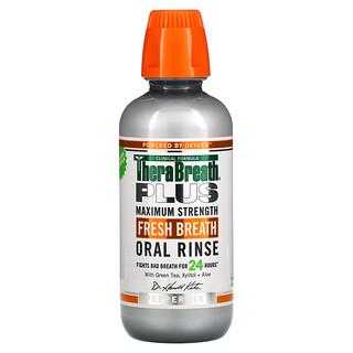 TheraBreath, Plus Maximum Strength Fresh Breath Oral Rinse、16 fl oz (473 ml)