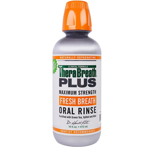 TheraBreath, Plus Maximum Strength Fresh Breath Oral Rinse、16 fl oz (473 ml)