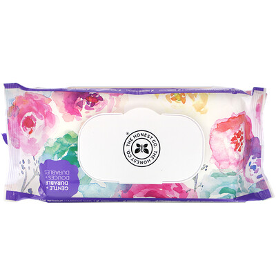 The Honest Company Plant-Based Wipes, Rose Blossom, 72 Wipes