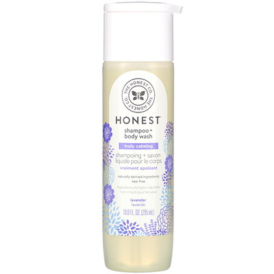 Купить The Honest Company Truly Calming Shampoo + Body Wash, Lavender, 10.0 fl oz (295 ml)