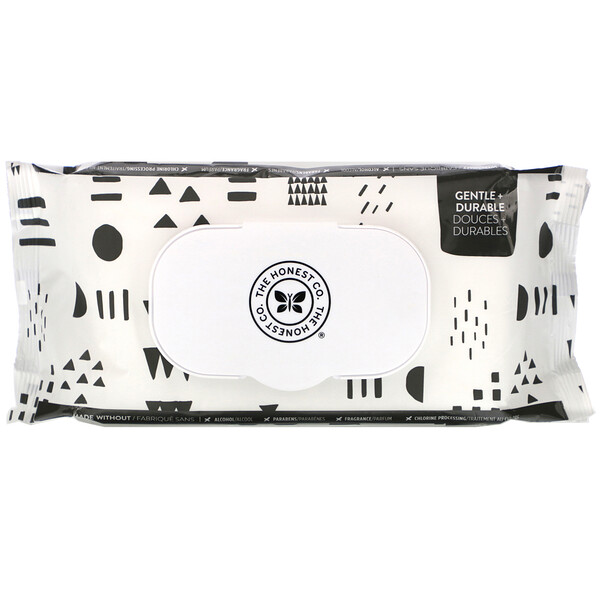 The Honest Company, Plant-Based Wipes, Pattern Play, 72 Wipes