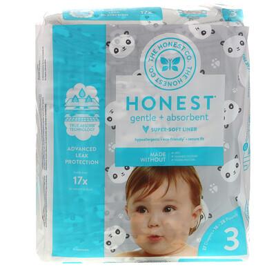 Купить The Honest Company Honest Diapers, Size 3, 16-28 Pounds, Pandas, 27 Diapers