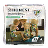 The Honest Company, Honest Diapers, Size 4, 22-37 Pounds, Cactus Cuties, 23 Diapers