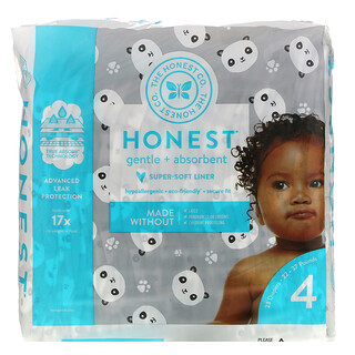 The Honest Company, Honest Diapers, Size 4, 22-37 Pounds, Pandas, 23 Diapers
