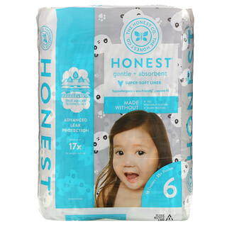 The Honest Company, Honest Diapers, Size 6, 35+ Pounds, Pandas, 18 Diapers