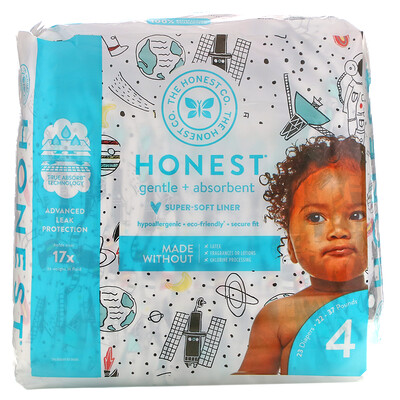 Купить The Honest Company Honest Diapers, Size 4, 22 - 37 Pounds, Space Travel, 23 Diapers