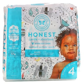 The Honest Company, Honest Diapers, Size 4,  22 - 37 Pounds, Space Travel, 23 Diapers