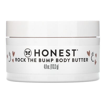The Honest Company Rock the Bump Body Butter, Unscented, 4 oz (113.3 g)