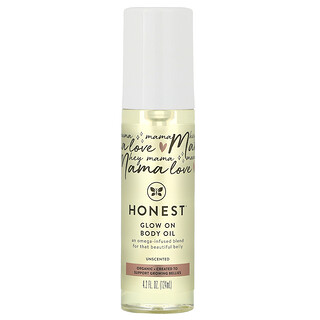 The Honest Company, Glow On Body Oil, Unscented, 4.2 fl oz (124 ml)