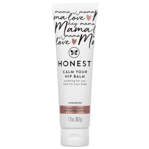 The Honest Company, Calm Your Nip Balm, Unscented, 1.75 oz (50 g)