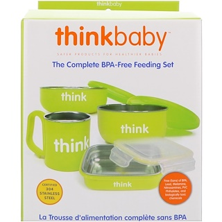 Think, Thinkbaby, The Complete BPA-Free Feeding Set, Light Green, 1 Set