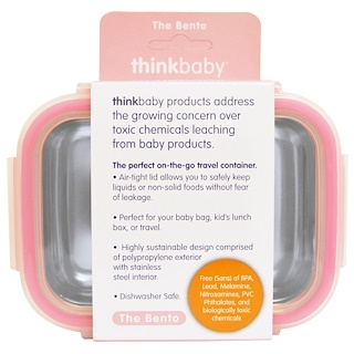 Think, Thinkbaby, Die Bentō-Box, Pink, 9 fl oz (250 ml)