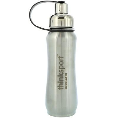 Купить Thinksport, Изолированная спортивная бутылка, Серебристая, 17 унций (500 мл)