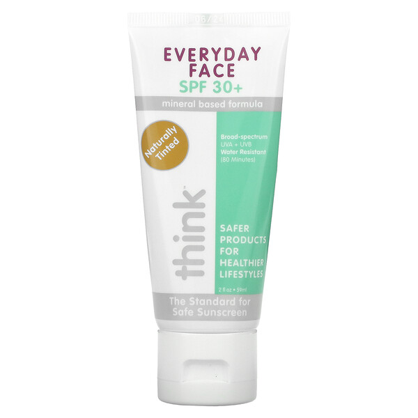 Think, Everyday Face, SPF 30+, Naturally Tinted, 2 fl oz (59 ml)