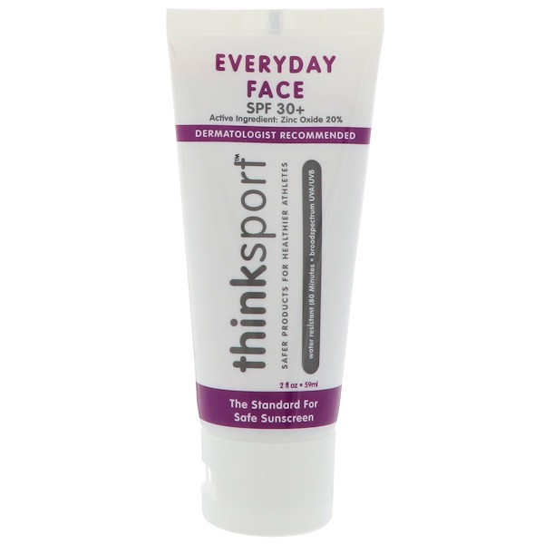 Think, Thinksport, EveryDay Face, SPF 30+, Naturally Tinted, 2 oz (59ml)