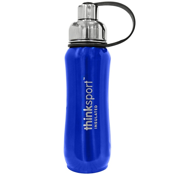 Think, Thinksport, The Super Insulated Sports Bottle, Blue, 500 ml (Discontinued Item)
