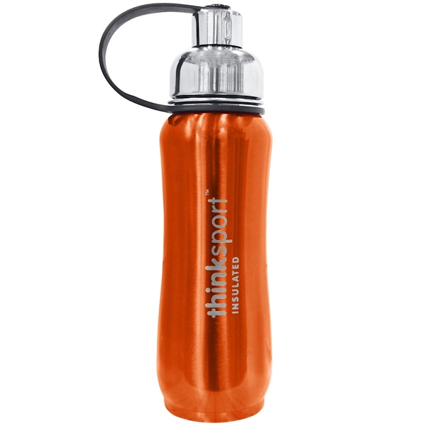 Think, Thinksport, The Super Insulated Sports Bottle, Orange, 500 ml (Discontinued Item)