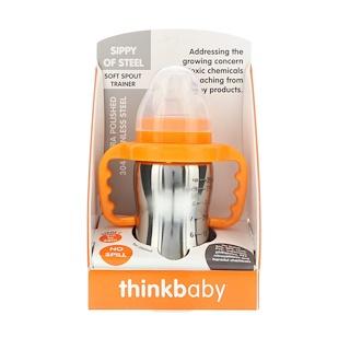 Think, Thinkbaby, Vasito para Sorber de Acero, Fase C, 9 oz (260 ml)