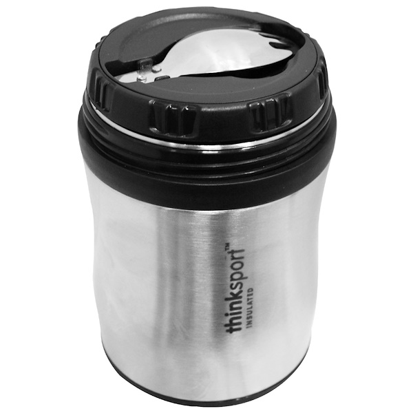 Think, Thinksport, GO4TH, Insulated Food Container, Silver, 12 oz (350 ml) (Discontinued Item)