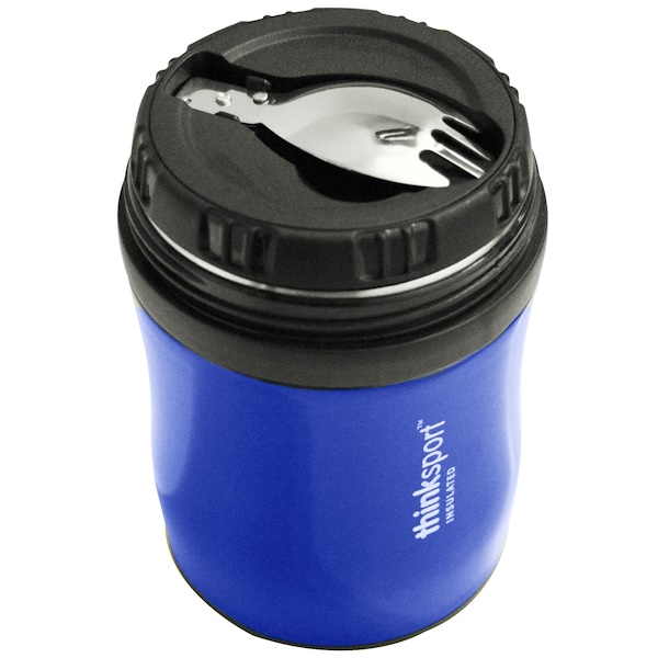 Think, Thinksport, GO4TH Insulated Food Container, Blue, 12 oz (350 ml) (Discontinued Item)