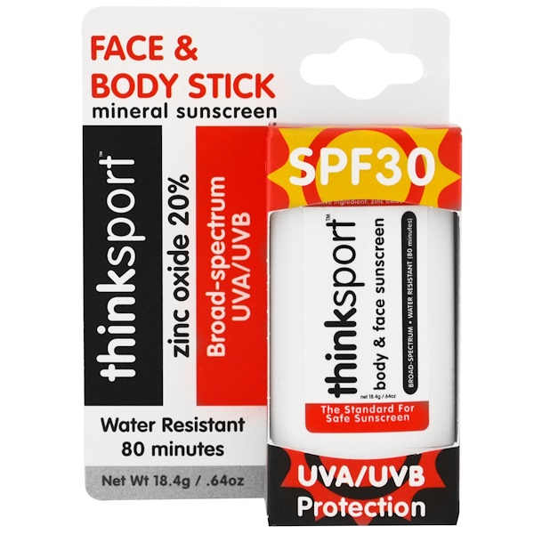 Think, Thinksport, Sunscreen Stick, SPF 30, 0.64 oz (18.4 g)