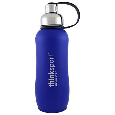 Купить Thinksport, герметичная бутылка для спортсменов, синяя, 25 унций (750 мл)