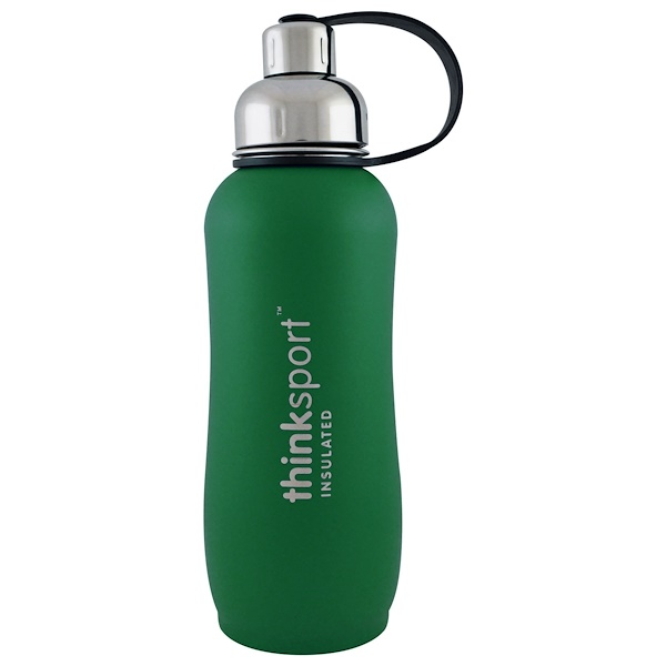 Thinksport, Insulated Sports Bottle, Green, 25 oz (750ml)