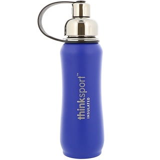 Think, Thinksport, Insulated Sports Bottle, Blue, 17 oz (500 ml)