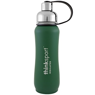 Think, Thinksport, Insulated Sports Bottle, Green, 17 oz (500ml)