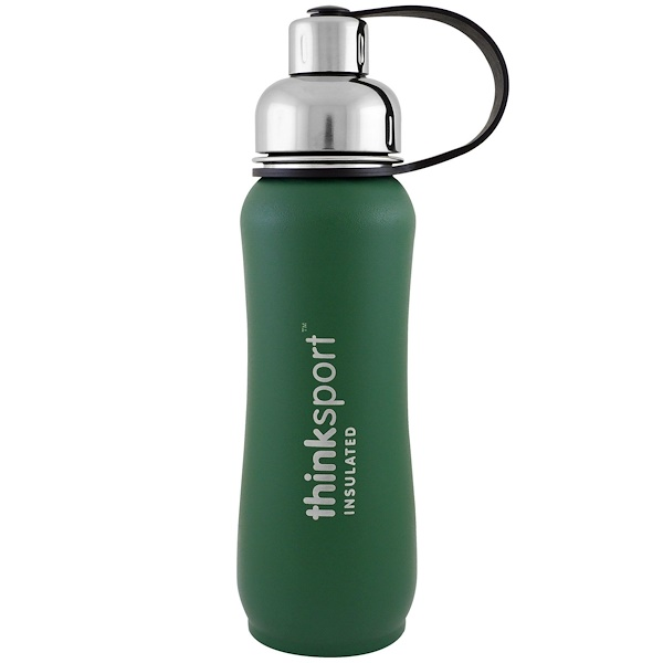 Thinksport, Insulated Sports Bottle, Green, 17 oz (500ml)