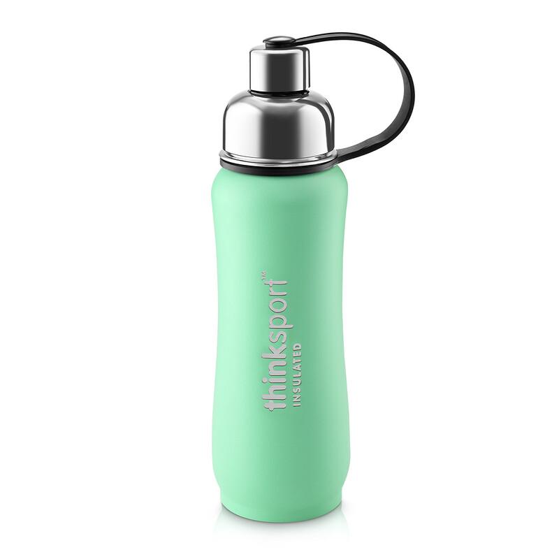Thinksport, Insulated Sports Bottle, Green, 17 oz (500ml)