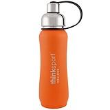 Отзывы о Think, Thinksport, герметичная бутылка для спортсменов, оранжевая, 17 унций (500 мл)