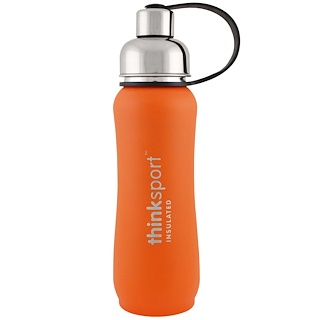 Think, Thinksport, герметичная бутылка для спортсменов, оранжевая, 17 унций (500 мл)